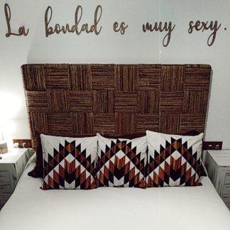 frase madera pared personalizada
