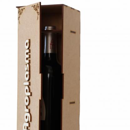 caja botella vino madera personalizada regalo empresa novios eventos navidad personal present
