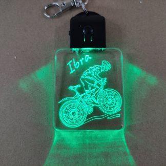 Llavero personalizado led ciclista