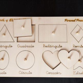 encajable madera figuras geométricas personalizado