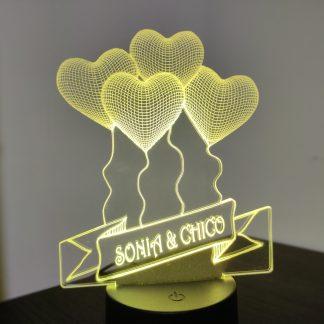 lampara 3D led personalizada
