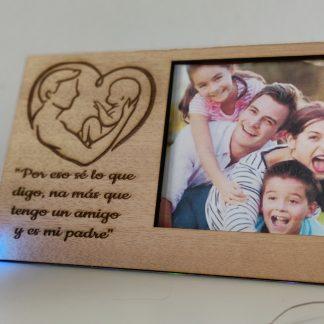 portafoto marco foto madera personalizado día del padre