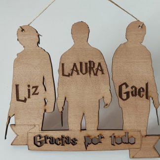 letrero madera personalizado Harry Potter