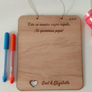 tabla madera personalizada para pintar manualidades infantiles regalo dia de la madre dia del padre cumpleaños personal present