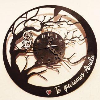 reloj pared madera personalizado