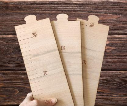 medidor decoración infantil madera personalizado personal present