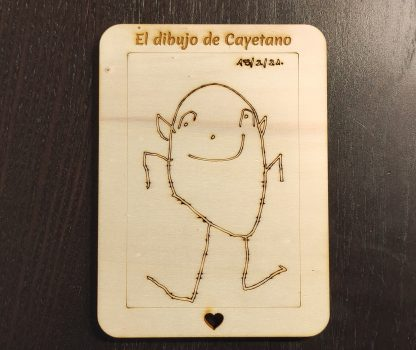 dibujo madera infantil personalizado imán dia del padre dia de la madre