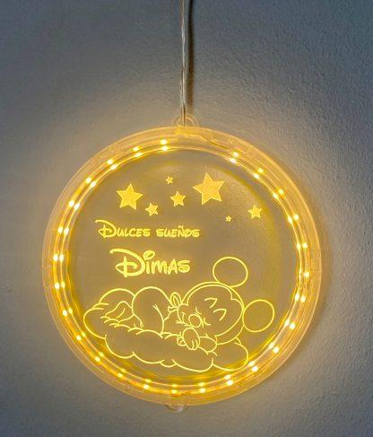 lámpara estrella madera personalizada luz nocturna