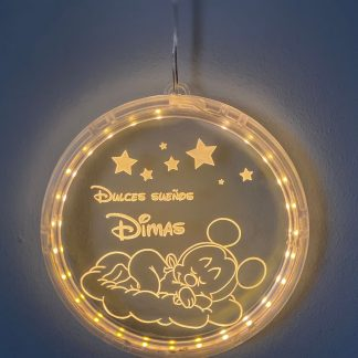 lámpara led personalizada circular