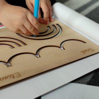 tabla grafomotricidad montessori madera personalizada personal present