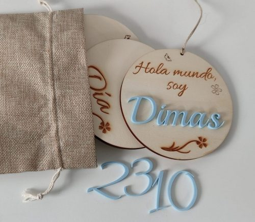 placa natalicio cumple mes madera personalizada personal present