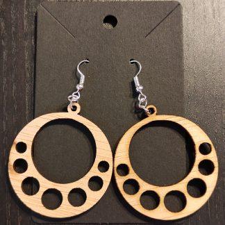 pendiente madera circular corte láser personal present