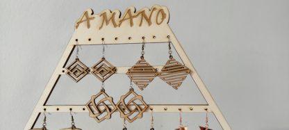 organizador expositor pendientes madera personalizado personal present