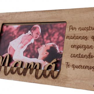 portafotos marco foto madera personalizado con palabra día del padre día de la madre personal present