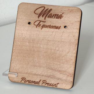 expositor organizador pendientes madera personalizado día de la madre personal present