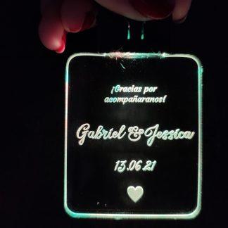 llavero led personalizado detalle invitados boda bautizo comunión eventos personal present