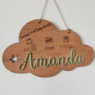 natalicio nube madera personalizado personal present