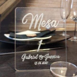 mesero número mesa boda bautizo comunión personalizado acrílico personal present