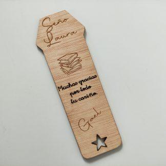 marcapáginas madera personalizado detalles invitados eventos regalos profes maestros empresas personal present