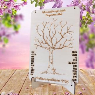 árbol huellas firmas madera boda bautizo comunión personalizado personal present