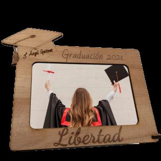 Marco fotos portafotos recuerdo graduación graduado madera personalizado personal present