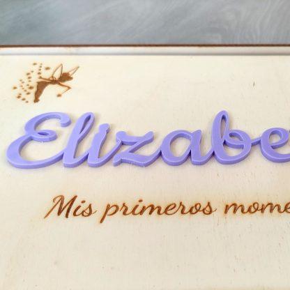 caja artesanal madera personalizada natalicio nombres infantil bebé nacimiento recuerdos regalo novios boda día de la madre personal present